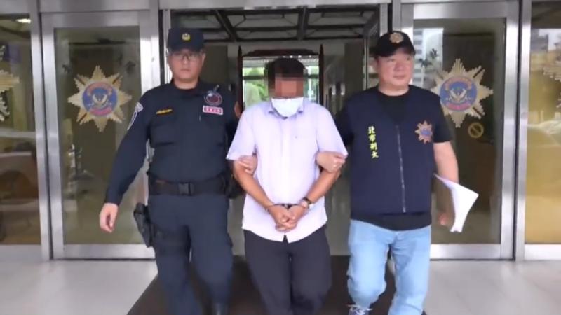 47歲的詹姓「愛心捐款箱大盜」遭市刑大肅竊組逮捕。(警方提供)