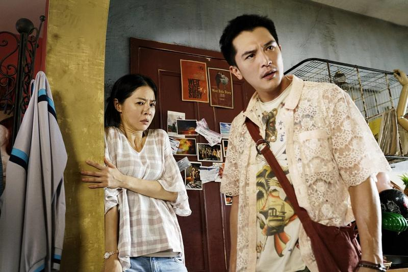 《誰先愛上他的》入圍8項金馬獎,是今年台灣電影的領頭羊,也讓邱澤(右)、謝盈萱雙雙入圍男女主角。(華納提供)