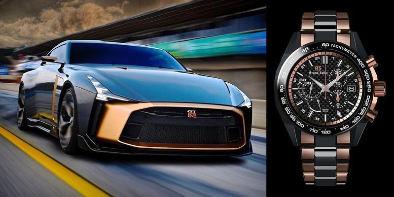 Grand Seiko品牌獨立之後,終於有更大的空間去進行品牌行銷,塑造魅力與個性。圖為Grand Seiko與Nissan GT-R50超跑跨界合作的最新錶款。