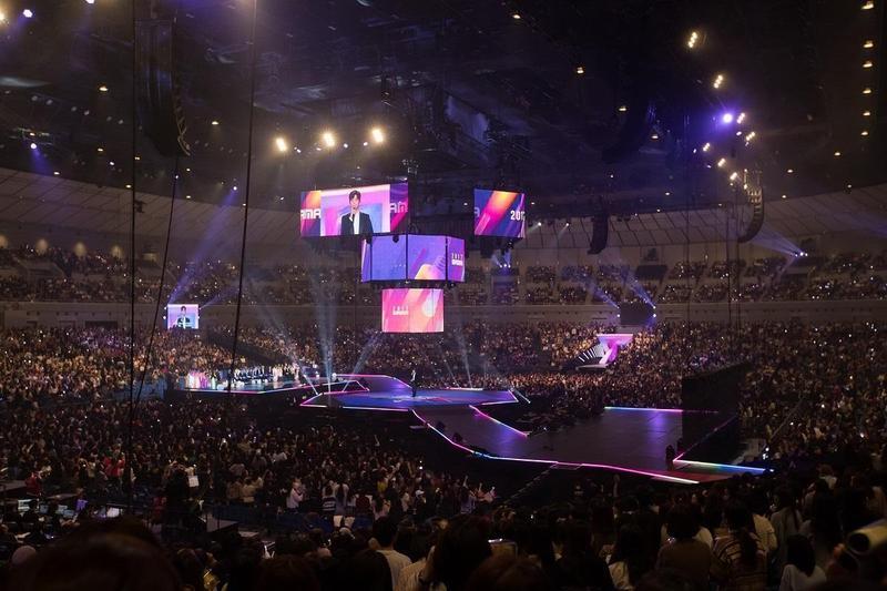 亞洲最盛大的MAMA音樂頒獎典禮,去年11月29日在東京橫濱體育館擴大舉行。(東方IC)