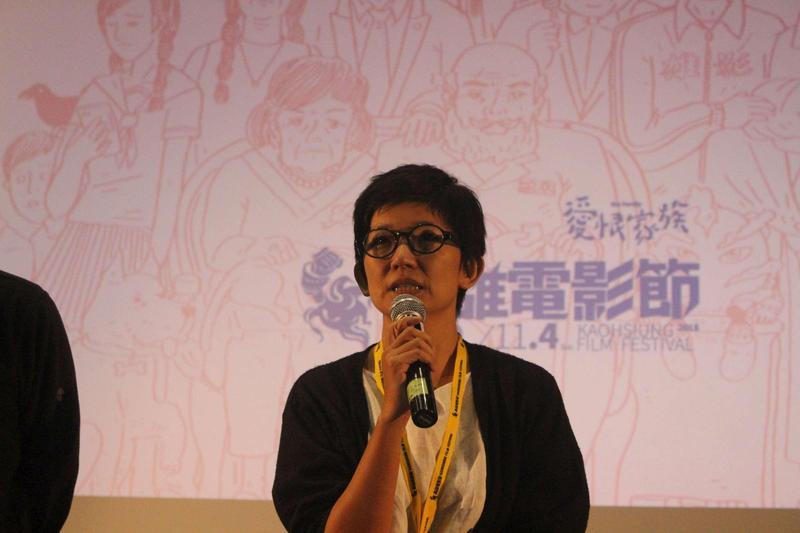 導演許慧如是高雄人,她表示這幾年來高雄有很大的改變!(高雄電影節提供)