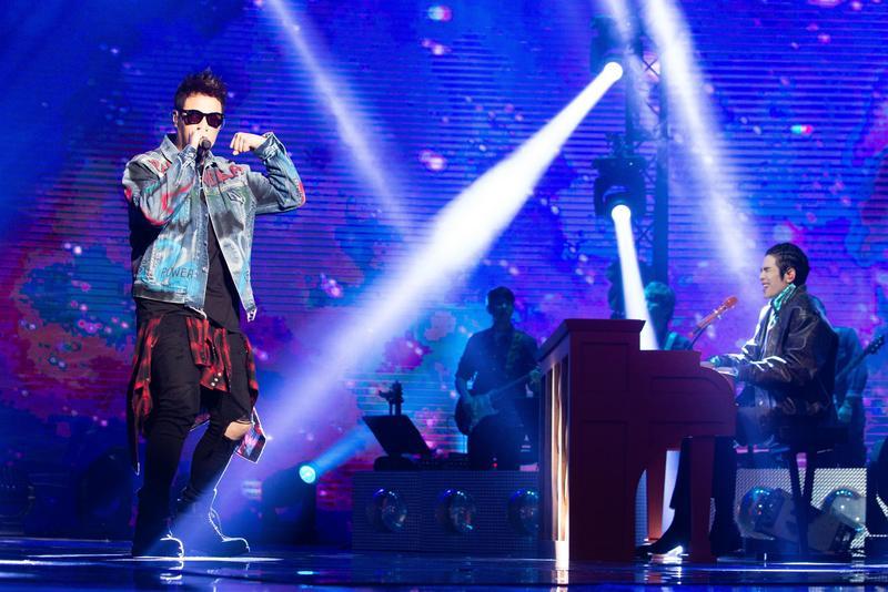 潘瑋柏首次與蕭敬騰合體演唱。(ETtoday新聞雲提供)