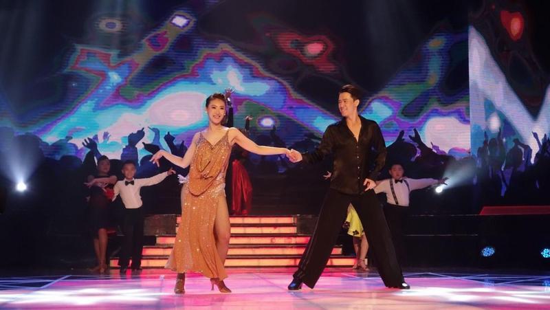 民視《舞力全開》第7季明星舞王舞后爭霸賽進入到第3回合積分賽,謝金晶目前暫時總積分排名第4。(民視提供)