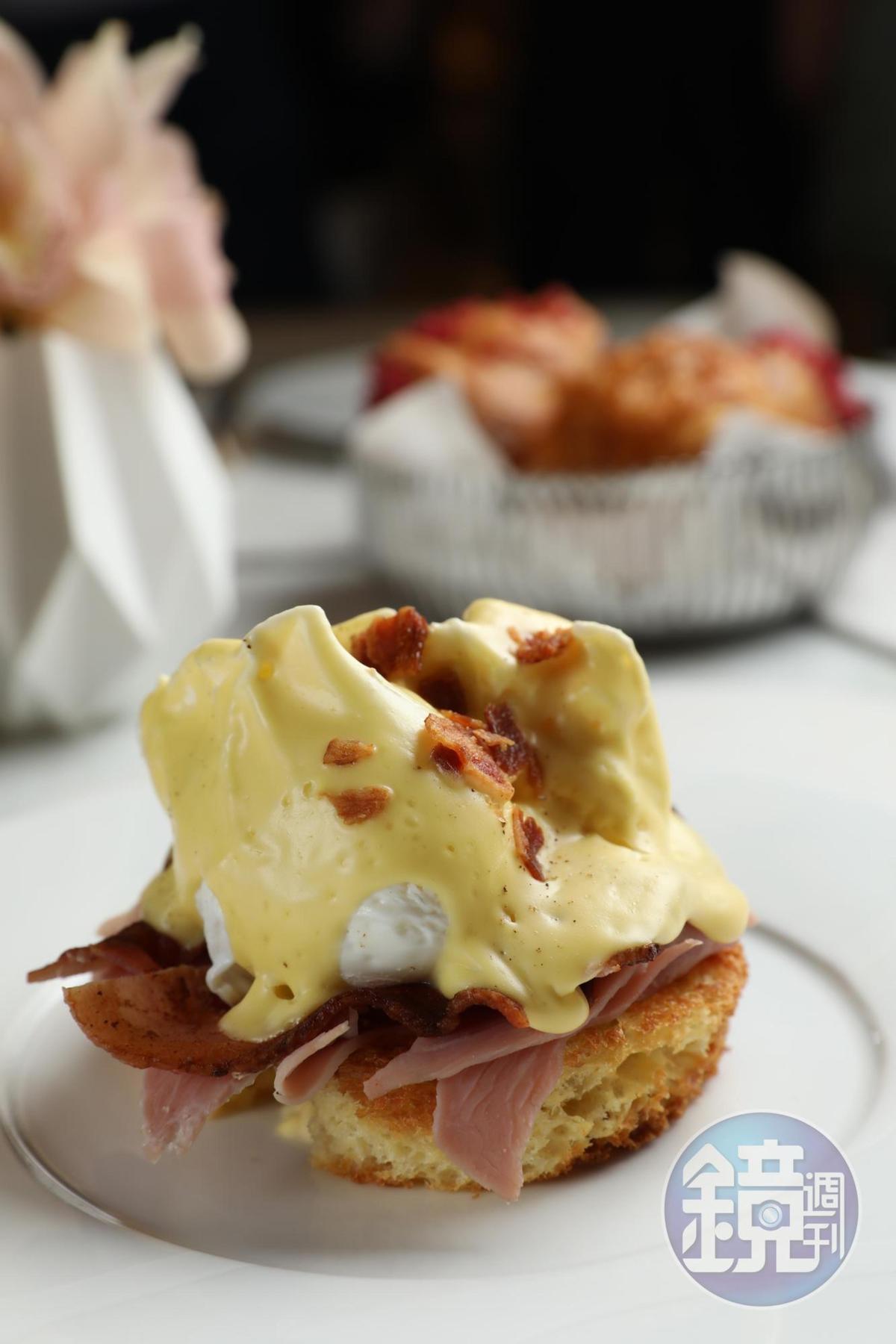 「班尼迪克蛋」也是經典的早餐之選。(澳門幣108元/份,約NT$410)