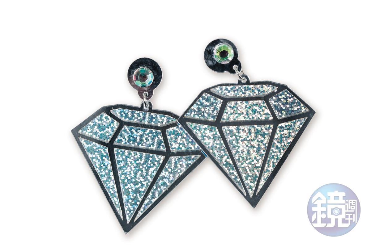 澳洲買的鑽石造型耳環,約NT$300。