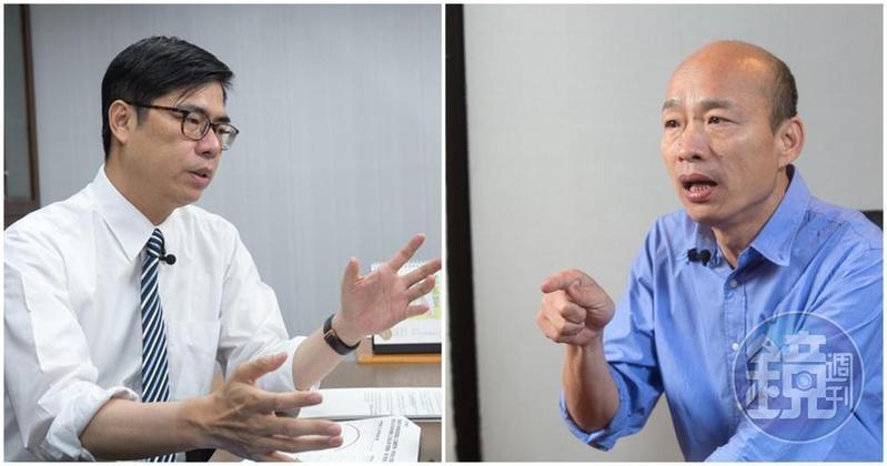 高雄市長候選人陳其邁和韓國瑜,雙方陣營敲定11/19辯論。