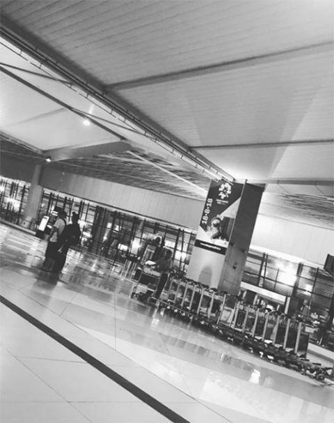 李鍾碩被困印尼機場時,上傳照片表示不知道發生什麼事,後來將照片刪除,也讓粉絲擔心不已。(網路圖片)