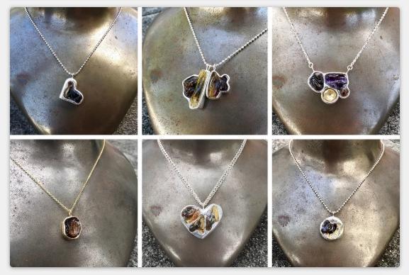 珠寶設計師Ruth Avra創作的臍帶項鍊。(翻攝A La Avra官網)