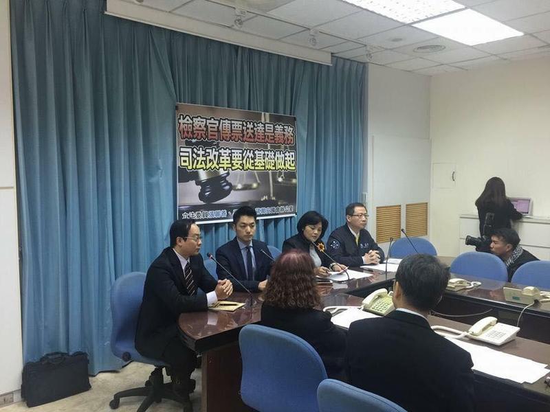 立委吳志揚、蔣萬安和張麗善日前曾召開記者會,建議針對刑事訴訟法進行修法。(翻攝畫面)