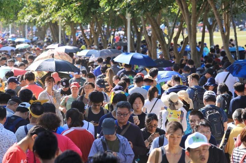 《Pokémon GO Safari Zone in Tainan》活動吸引破百萬人次在台南抓寶。