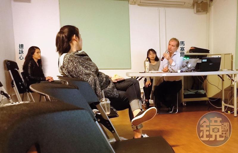 馬塞爾11月2日在寶藏巖舉行座談會,連詠心也愛相隨,低調在角落專心聆聽。