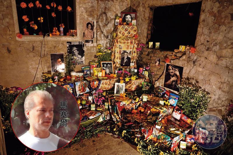 馬塞爾在寶藏巖舉辦墨西哥亡靈節活動,圖為他布置的祭壇,結合了拉美與東亞紀念逝者的方式。