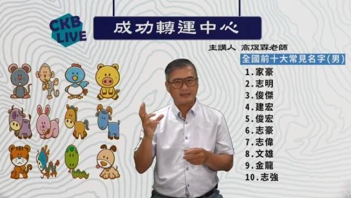 命理師高煜霖以易經姓名學分析高雄市長選情。(翻攝高煜霖臉書)