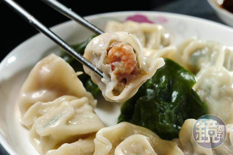 點「綜合水餃」一次能吃到5種口味。(150元/1份12顆,附湯或飲料)