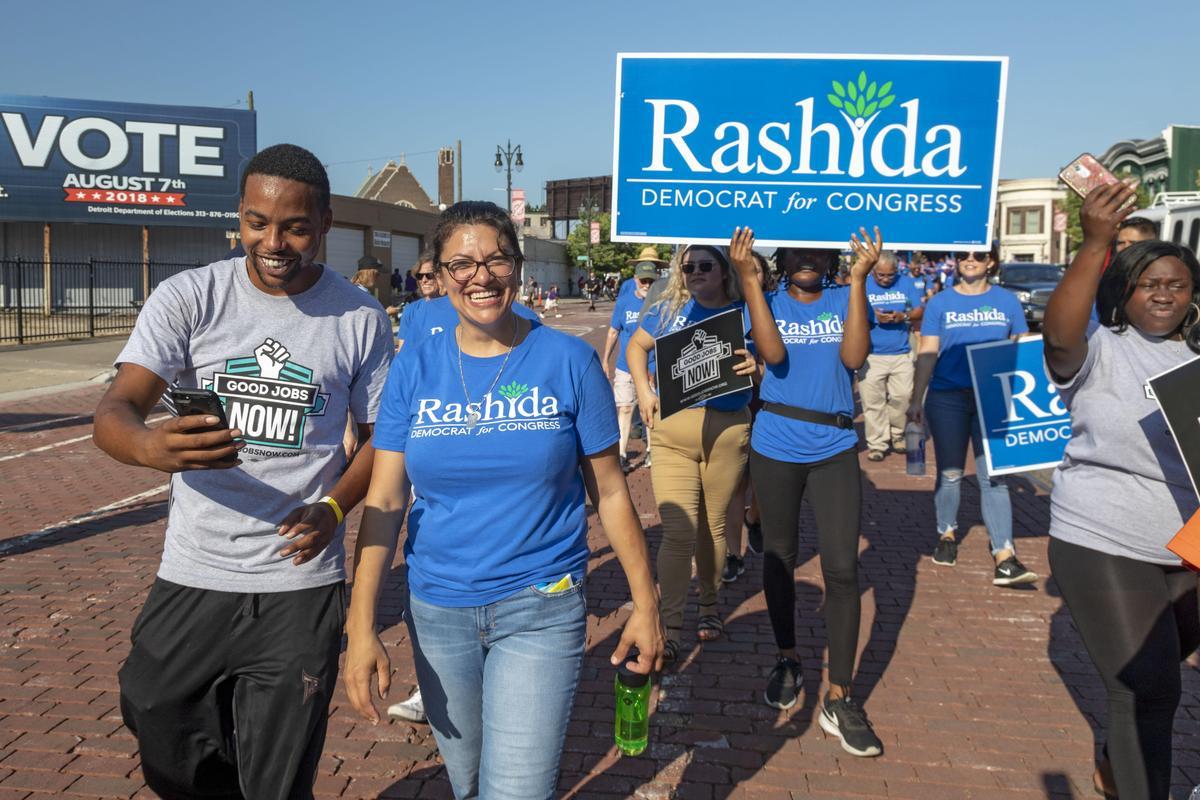 塔利布(Rashida Tlaib)是美國會史上首位巴勒斯坦裔的國會議員(東方IC)