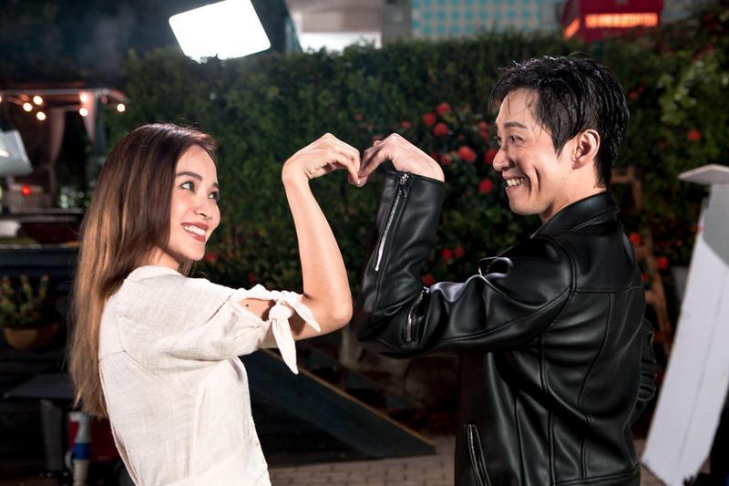 能夠邀來侯佩岑拍MV,陳漢典覺得自己很幸運。(有聲娛樂提供)
