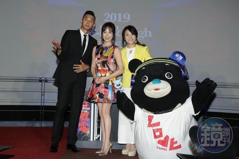 黑人(左起)、天心、海裕芬今年將聯手主持台北市政府前的跨年晚會。
