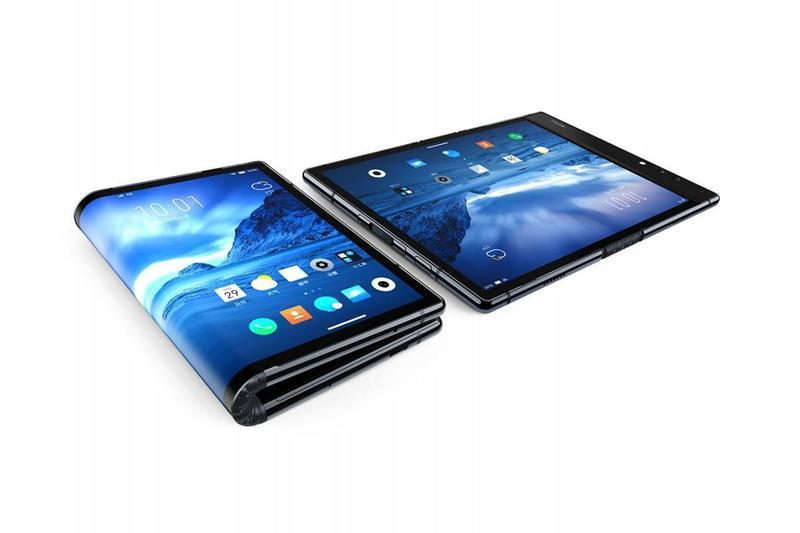 中國大陸廠商柔宇科技的柔派FlexPai,是全球首發的折疊螢幕手機。(翻攝自柔宇科技官網)