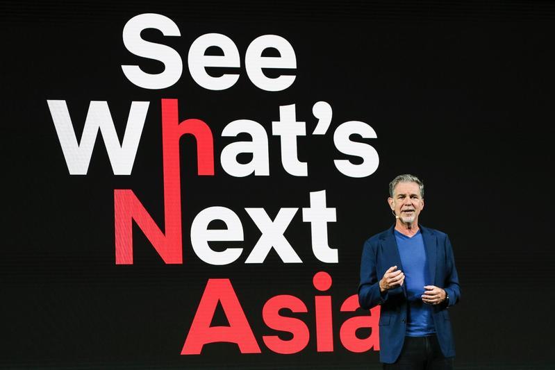 Netflix總裁瑞德海斯汀8日上午出席在新加坡舉行的亞洲大會,闡述Netflix以故事串連全世界的願景。(Netflix提供)