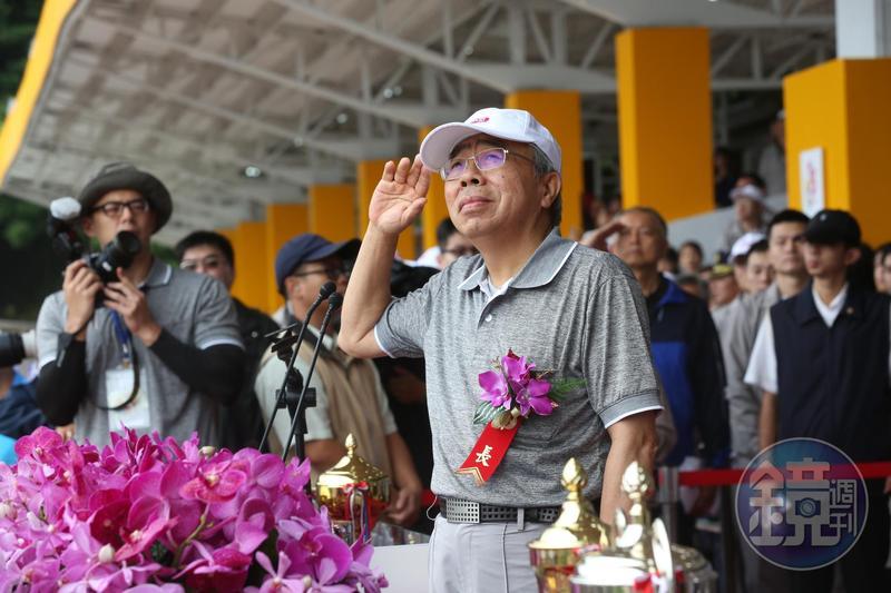 王文淵主持台塑運動會,並宣布今年年終6個月往上加。