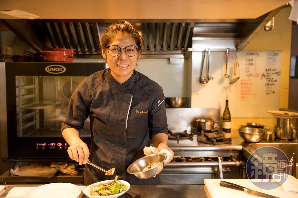 莎莎負責拾穗Bakery & Kitchen的餐點設計與酒食搭配。