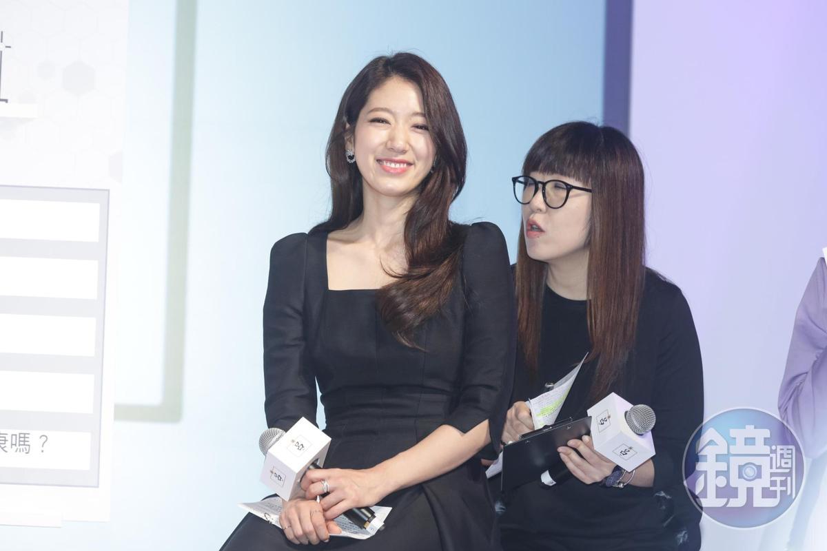 朴信惠再次以呂Ryo品牌大使身分來台出席活動。