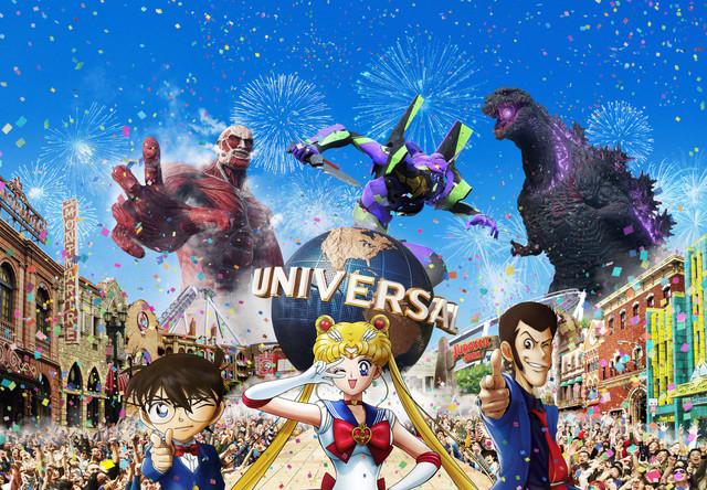 明年的大阪環球影城很精彩!(圖/USJ,(c) 諫山創・講談社/「進撃の巨人」製作委員会 TM & (c) TOHO CO., LTD. (c)カラー (c)Naoko Takeuchi 書・紫舟 TM & (c) Universal Studios. All rights reserved. (c) SCRAP All rights reserved.)