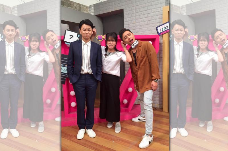 張書偉(左)與鄭人碩(右)上節目宣傳新片。(17Media提供)