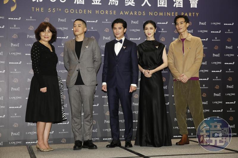 邱澤、謝盈萱、導演徐譽庭、許智彥、李英宏到場金馬入圍酒會。