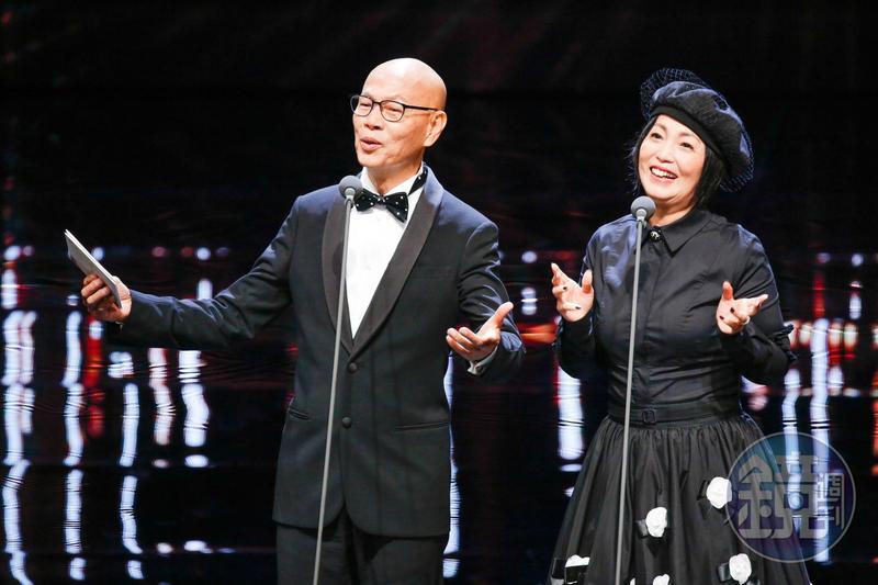 港星羅家英和苑瓊丹這回來台頒發最佳男、女配角獎,兩人在台上妙語如珠。