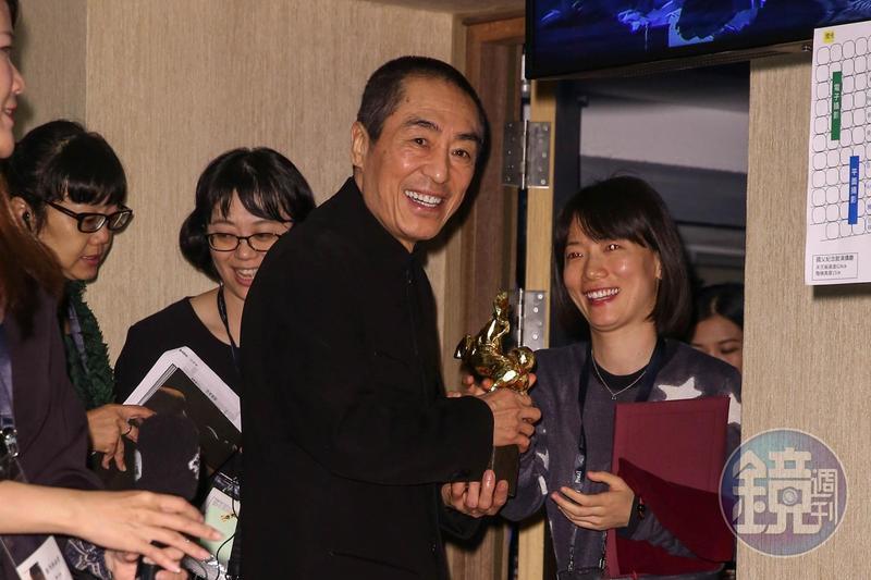 張藝謀今年憑《影》拿下金馬獎最佳導演獎,原先預定會在S Hotel受訪。