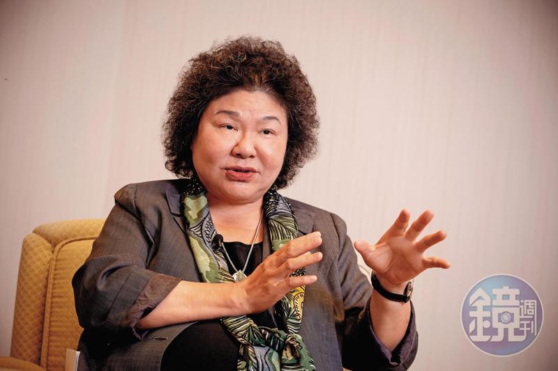 陳菊19日在總統府接受本刊專訪強勢回應吳敦義的言語霸凌。