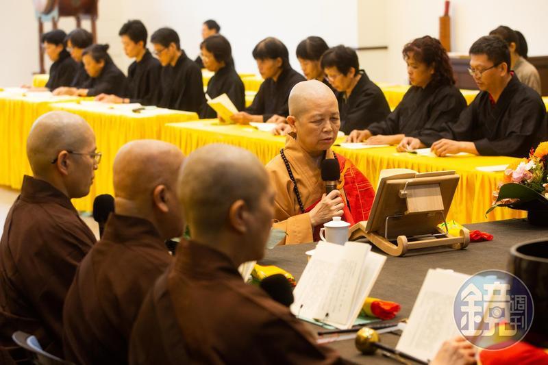 釋昭慧貼文轉述呼籲性廣法師法談,呼籲佛家弟子出門公投支持婚姻平權。