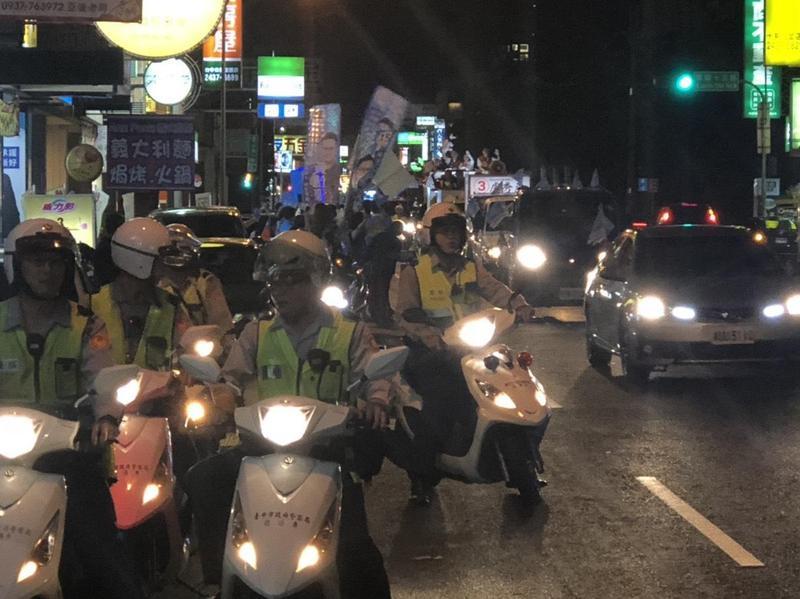 選前最後48小時,警方總動員防制暴力衝突。(警方提供)