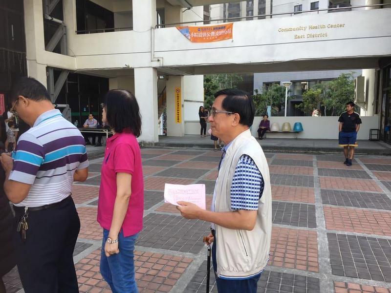 前總統陳水扁今(24)日也往投票所行使公民權,還在臉書po文表示「完成10年來第一次投票公民權的行使。」(翻攝自新勇哥物語臉書)
