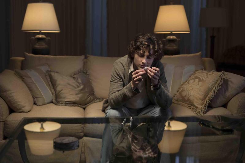 爆紅小鮮肉提摩西夏勒梅在新片扮毒蟲,靠著父親及全家人的努力幫助他戒除毒癮。(傳影互動提供)