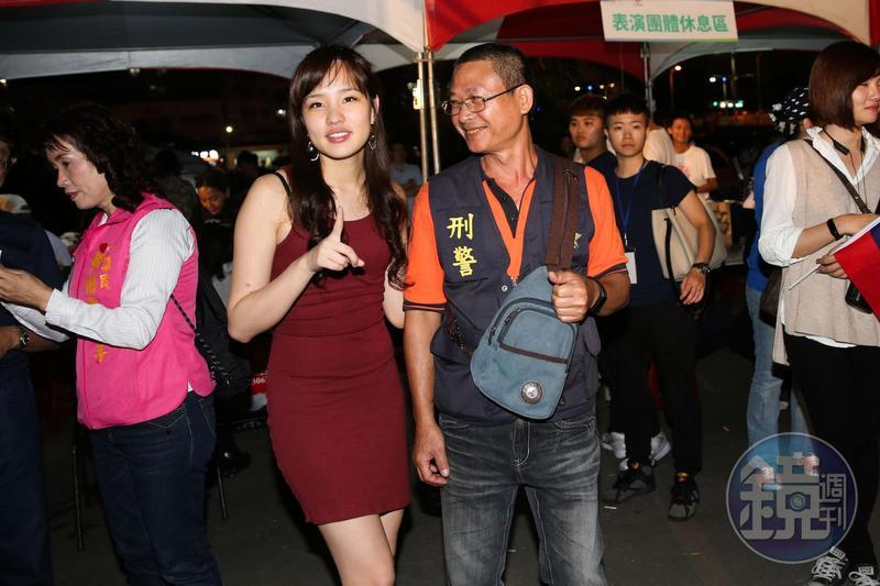 韓國瑜打選戰,有女兒韓冰助陣。