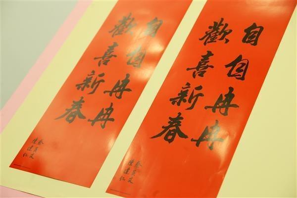 林瑞明生前著作《賴和全集》的「自自冉冉」被總統府引為2017年的春聯賀詞,一度引起討論。(翻攝總統府官方網站)