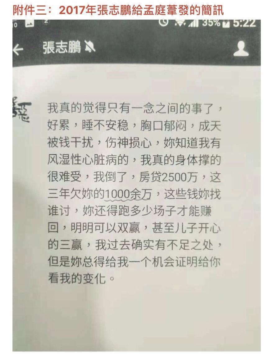 孟庭葦提出簡訊等證據反擊張志鵬。(豐華提供)
