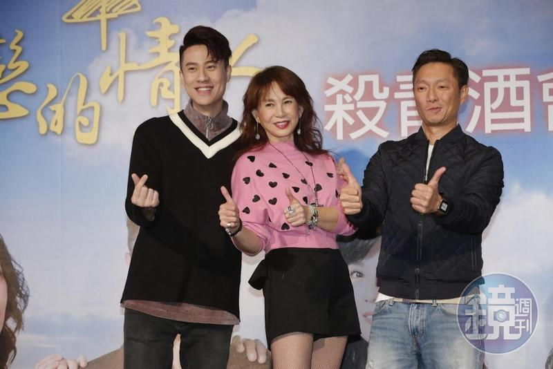 周丹薇(中)與劉書宏(左)戲裡是母子,好感情也延續到戲外。