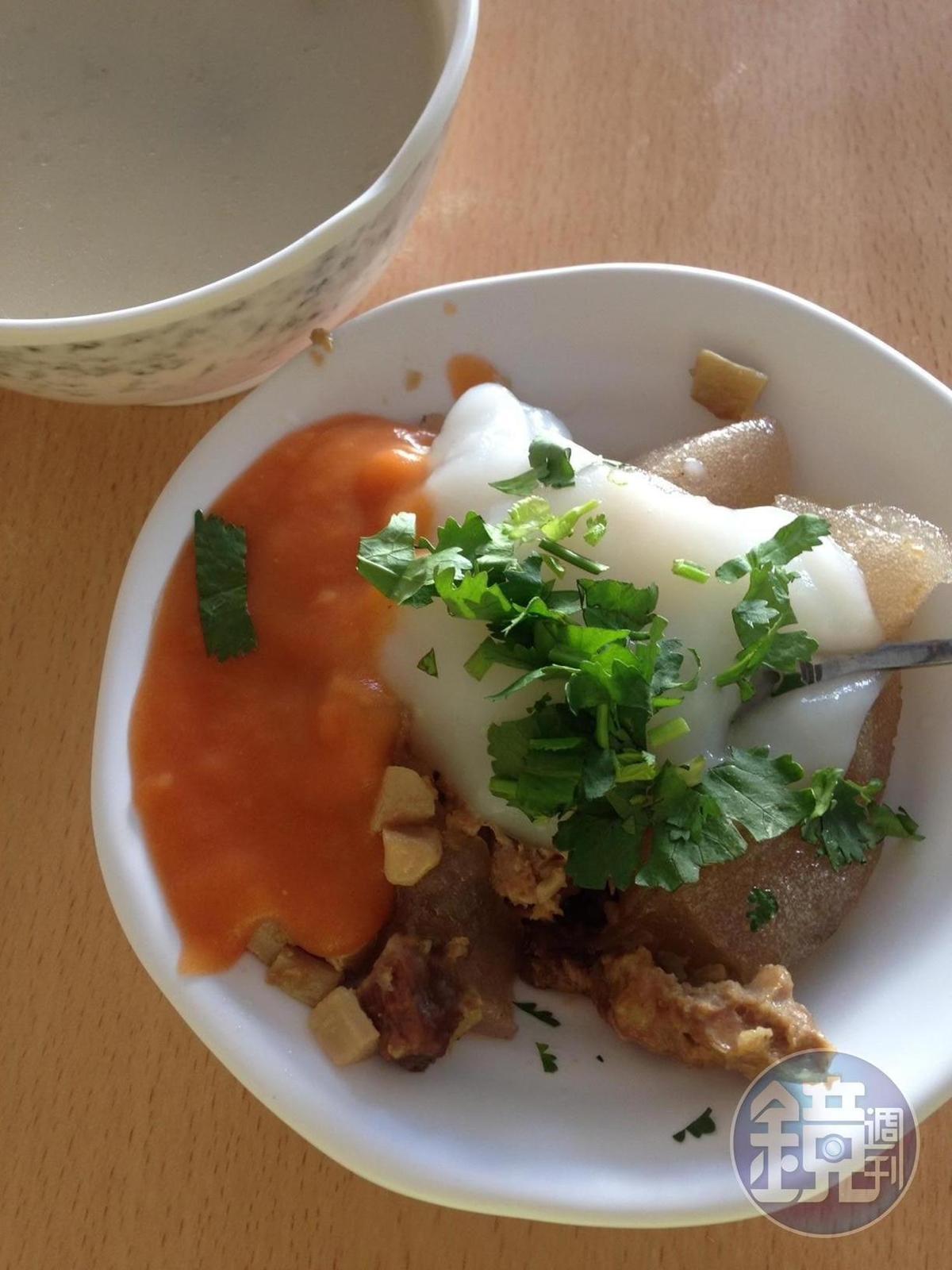林懷民推薦必吃的吉本肉圓就在池上熱鬧街區上。