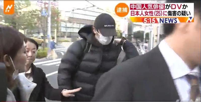 蔣勁夫於28日在日本投案,引起喧然大波。(翻攝TBS NEWS)