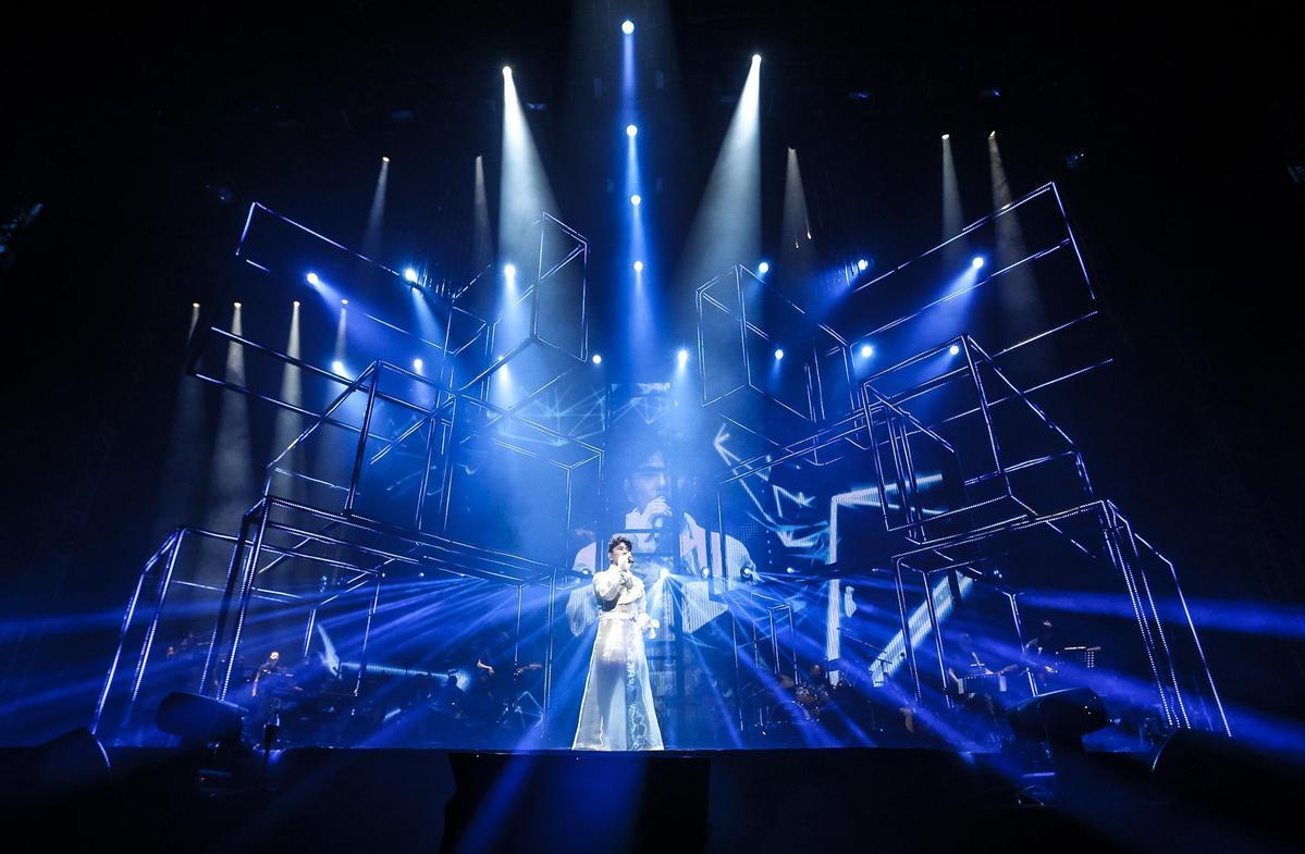 張信哲的《未來式》演唱會唱過北京、澳門等城市,台北場的科技感將更升級。(潮水音樂提供)