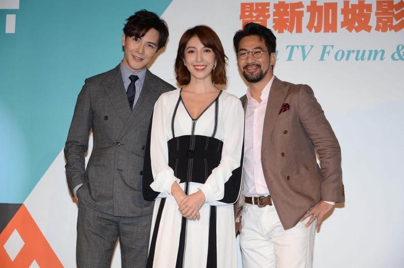楊謹華和謝佳見、黃健瑋合作《我是顧家男》,還創了三人群組。(八大提供)