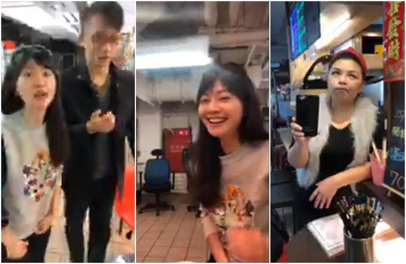 高嘉瑜南港謝票遇到完全不認識她的路人民眾。(翻攝自高嘉瑜臉書直播)