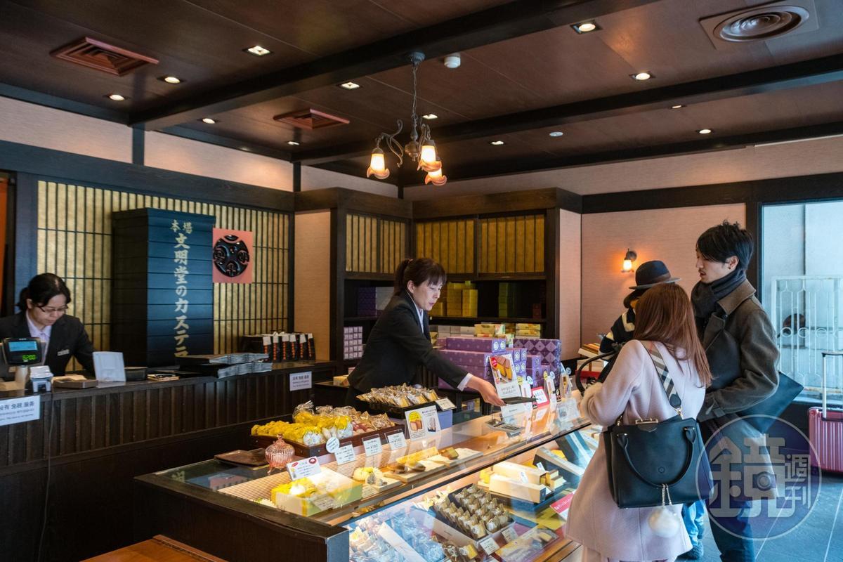 文明堂是日本知名度最高的長崎蛋糕專賣店。