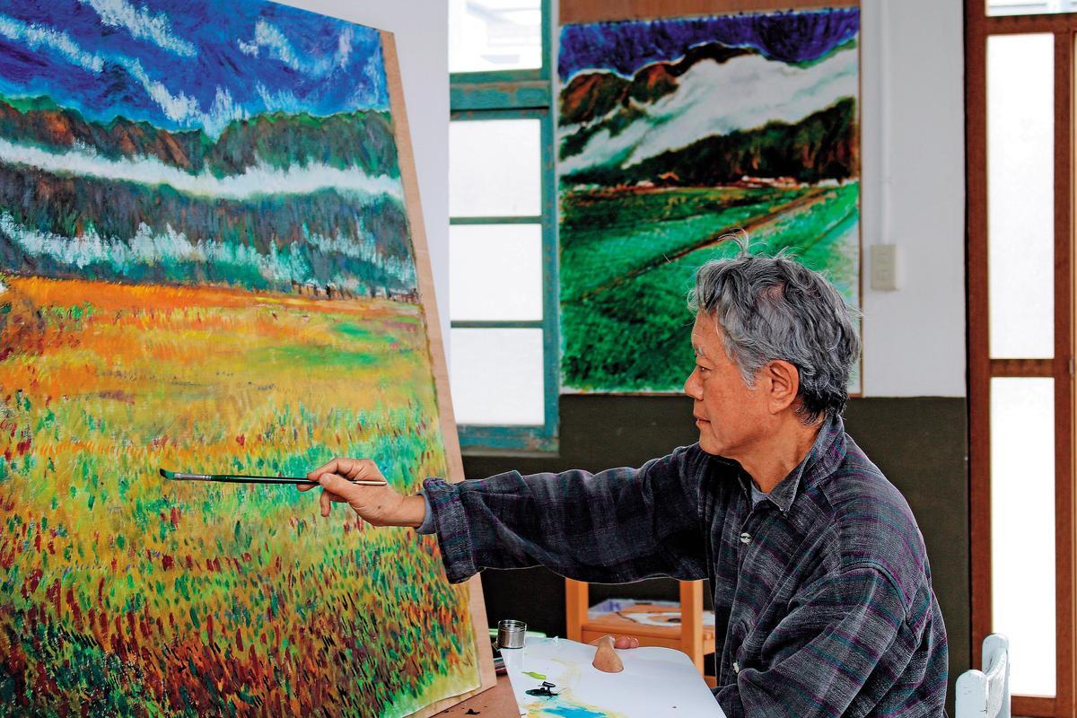 蔣勳率藝術家們進駐池上藝術村,透過學校社區交流及工作坊,將藝術能量帶入地方。(台灣好基金會提供)