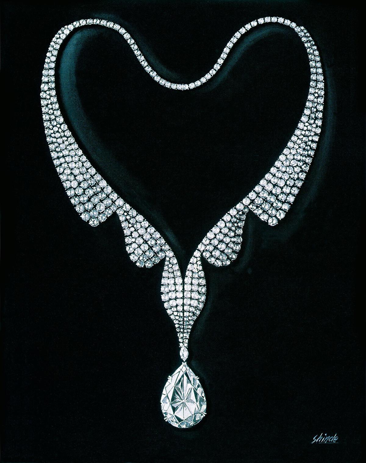 達69.42克拉的水滴形鑽石泰勒波頓之鑽,是當年引起好萊塢轟動的主角。