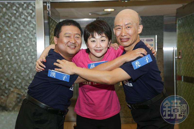 納豆(左)曾開玩笑說自己是家中最高的,但據了解他的親舅舅侯友宜還比他高十公分。