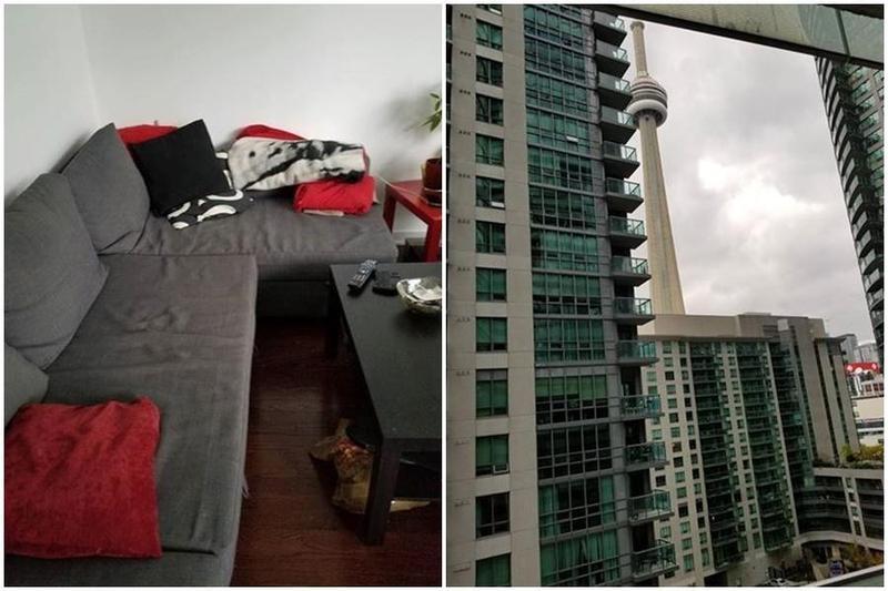 多倫多房價居高不下,有屋主出租家中沙發,一個月租金高達1,400加幣。(kijiji網)